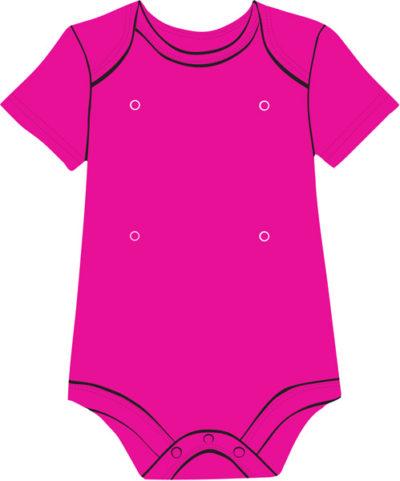 Fuchsia baby onesie with snaps