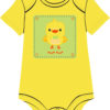 Baby Chick on Yellow onesie