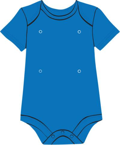 Blue baby onesie