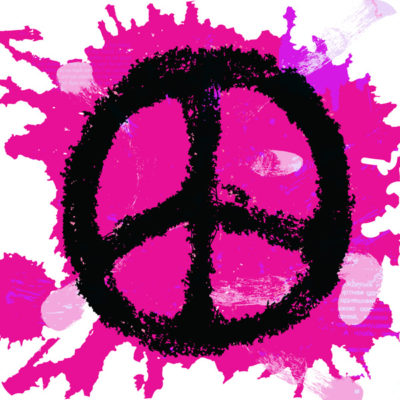 Funky Peace sign patch