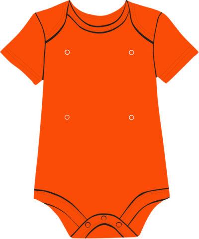 Orange Baby Onesie