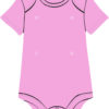 Pink baby onesie with snaps