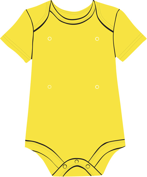 Yellow and pink onesie